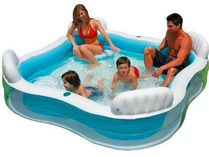 Swimmingpool aufblasbar  Intex Aufblasbarer Pool mit Stuhl online kaufen