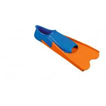 Beco Short Swimming Fins - Blue / Orange