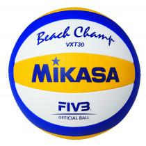 Mikasa Beach Champ VXT30 Beach Volleyball Offizieller Ball - Größe 5 - Blau / Gelb / Weiß