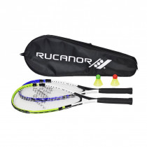 Rucanor Speed Badminton - Set - Blau / Grün