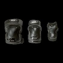 Roces Ventilated 3er Pack Protektoren - Black