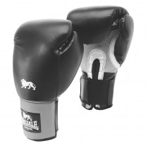 Lonsdale Jab Training - Hook & Loop - Schwarz / Grau - 8 Unzen