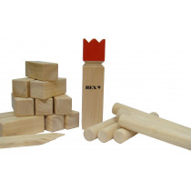 Bex Kubb Viking Original - Red King - Gummi Holz