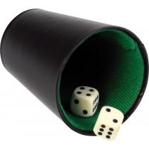 Longfield Poker Cup Kunstleder schwarz - 9 Zoll