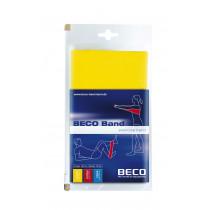 Beco Fitness / Therapie elastische Gummi Licht 15 x 150 cm - Gelb