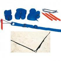 Megaform Beachvolleyball Grenzlinien - Blau Gitter