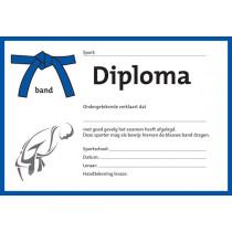 Diploma - blauer Krawatte