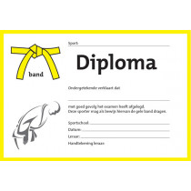 Diploma - gelbe Krawatte