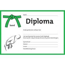 Diplom - Grün Krawatte