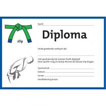 Diploma zwei Farben - Blau Schlupf