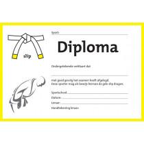 Diplom Zwei Farben - Gelb