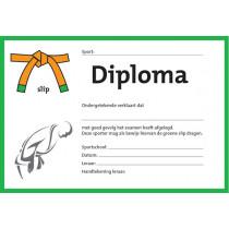 Diploma zwei Farben - Grün Schlupf
